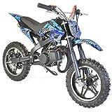 Pocket Bike enfant 50cc 2T ECO - Bleu, A monter, livré en caisse