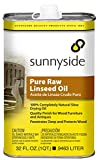 Sunnyside 87332 Pure Raw Linseed Oil, Quart