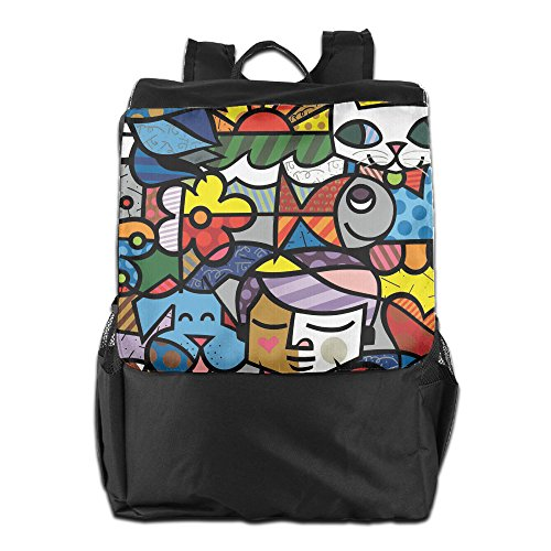 Colorful Abstract Art Outdoor Travel Backpack Bags Daypack Bookbag For Men & Women (Making Of Halloween Abstract)