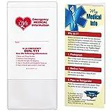 StoreSMART - Vial / File of Life Emergency Medical Info Pocket - Health - Hospital - 5-Pack - VHTS-5