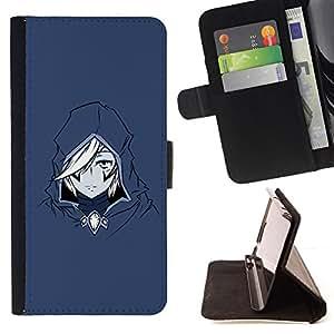 BullDog Case - FOR/HTC Desire 820 / - / Anime Assassin /- Monedero de cuero de la PU Llevar cubierta de la caja con el ID Credit Card Slots Flip funda de cuer