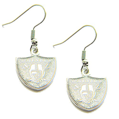 NFL Oakland Raiders Glitter Dangler Earrings