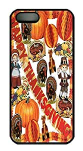 thanksgiving Custom PC Hard For Iphone 5/5S Phone Case Cover Black