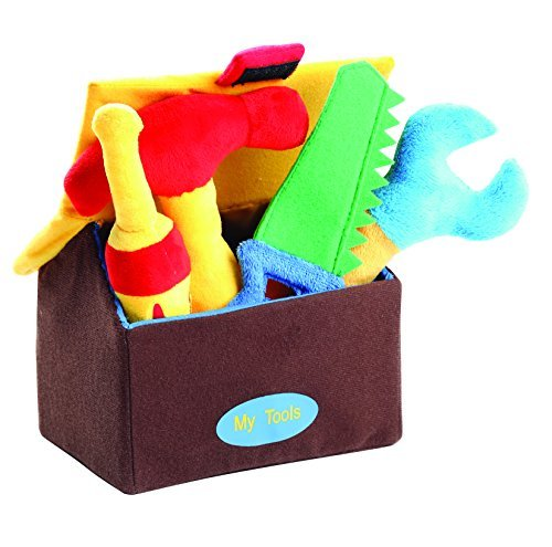 The Lakeside Collection My First Tool Set - Fully Plush with Each Having a Different Sound When Squeezed - 5 Pieces