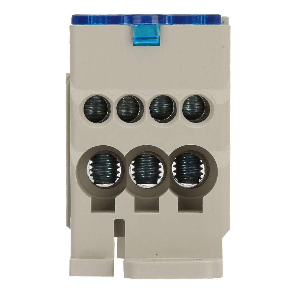 Caja de conexiones universal del poder de la caja de distribuci/ón del bloque de terminales del carril del dinar UKK-400A