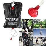 Easyflower Bathroom Set 5 Gallon Foldable Solar Heating Shower Bag Portable Camping Hiking Garden Bath Water Bag Set with Pipe Hook