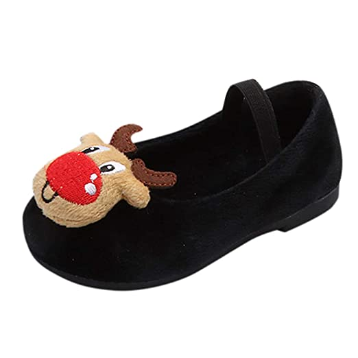 5b0d0b13a325 Amazon.com  Iuhan Baby Girls Christmas Shoes Deer Snowman Xmas ...