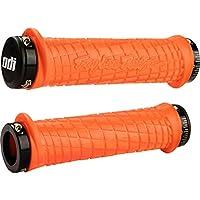 Paquete de bonos de agarre de bicicleta de montaña Odi Lock-On TLD, naranja /negro