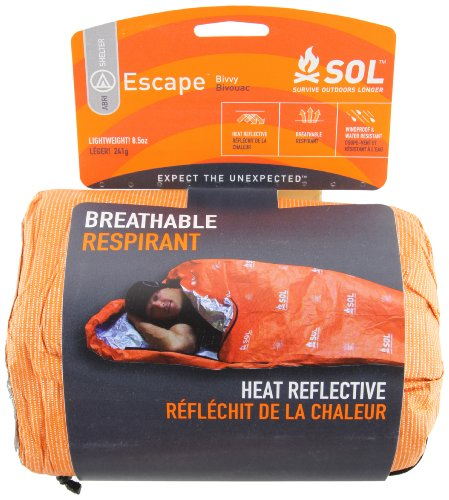 51dbJn5aD L - Adventure Medical Kits Sol Escape Bivvy - Orange