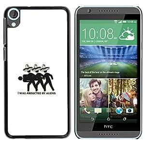LECELL--Funda protectora / Cubierta / Piel For HTC Desire 820 -- Secuestrado por los extranjeros divertido --
