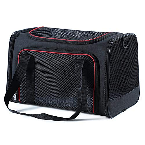 Black Suitable for pets up to 8 kgBOZHILIN Pet Cat Bag Large Cat Back Packaging Cat Cage Portable Pet Out Bag Dog Cat Pet Backpack Sky bluee S4 Kg Pets Apply