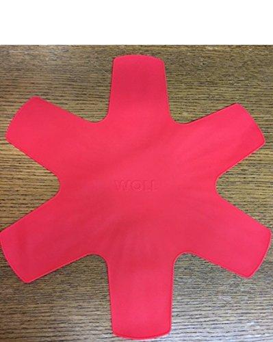 Protector de sartenes WOLL silicona rojo 1 pieza