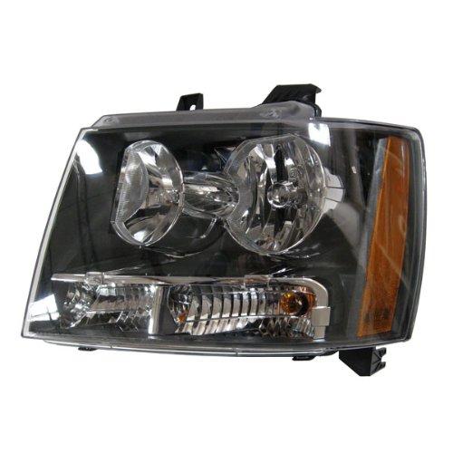 2007-2013 Chevy/Chevrolet Suburban 1500 2500 Tahoe & Avalanche Pickup Truck Headlight Headlamp Composite Halogen Front Head Light Lamp Left Driver Side (07 2007 08 2008 09 2009 10 2010 11 2011 12 2012 13 2013)