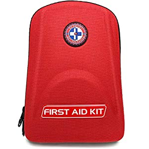 Be Smart Get Prepared 125 Piece First Aid Kit – Office, Home, Car, School, Emergency, Survival, Camping, Hunting, and…