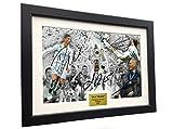 Real Madrid 2018 CHAMPIONS LEAGUE CELEBRATION 12x8 A4 Signed Cristiano Ronaldo Gareth Bale Sergio Ramos Zinedine Zidane - Autographed Photo Photograph Picture Frame Soccer Gift