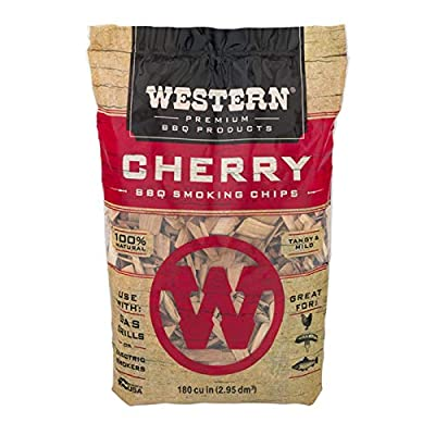 Western Premium BBQ Products Cherry Smoking Chips, 180 cu inch from WW Wood inc