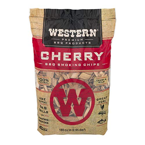- Western Premium BBQ Products Cherry BBQ Smoking Chips, 180 cu in