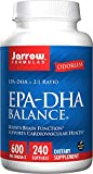 Jarrow Formulas EPA-DHA Balance Odorless, Supports Brain and Heart Health, 240 Softgels