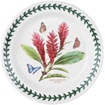 Portmeirion Exotic Botanic Garden Bread and Butter Plate with Red Ginger Motif, Set of 6