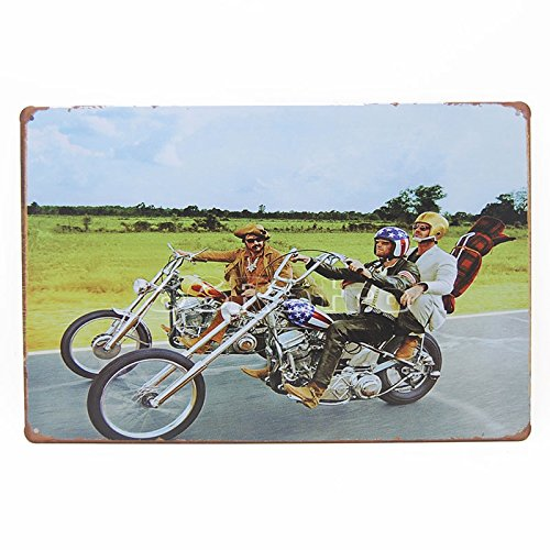 Easy Rider (1969), Metal Tin Sign, Wall Decorative Sign By 66retro