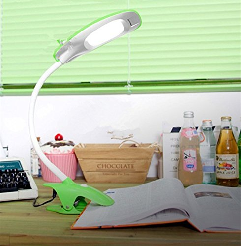 UPC 713458191892, Clip-On Table Lamp Showpin™ 9led 5W flexible goose neck desk light, suitable for anywhere, All operations including power on / off, mode switch and brightness up / down, are all done button-free on the touch-sensitive(White)