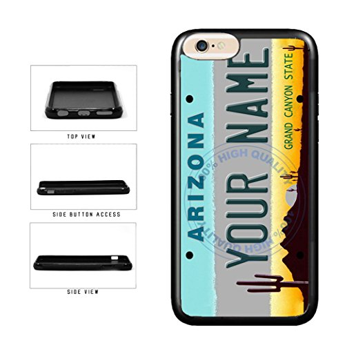 (BleuReign(TM) Personalized Custom Name Arizona State License Plate TPU Rubber Silicone Phone Case Back Cover for Apple iPhone 8 Plus and iPhone 7 Plus)