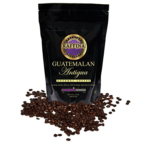 Kaffina Kaffe Premium Gourmet Ground Coffee - Single Origin - Medium Roasted Guatemalan Antigua Coffee