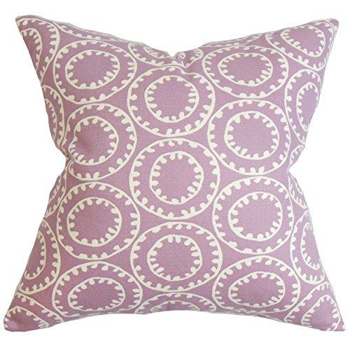 - The Pillow Collection Yowanda Geometric Pillow, Purple