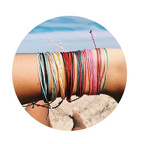 JOYAGIFT Women Adjustable String Bracelet Bohemian Braided Anklets Gifts for Girls (8PCS) ()