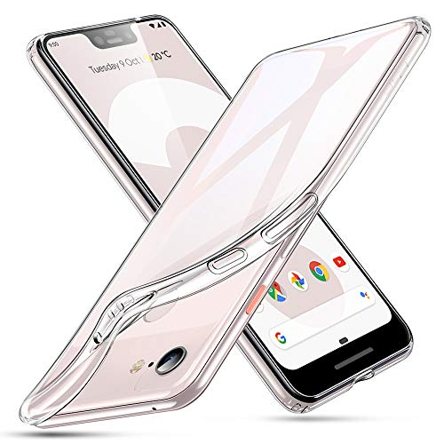 ESR Essential Zero Compatible for The Pixel 3 XL Case, Slim Clear Soft TPU Cover with Cushioned Corners for The Google Pixel 3 XL(2018 Release), Clear