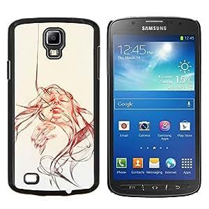 Eason Shop / Premium SLIM PC / Aliminium Casa Carcasa Funda Case Bandera Cover - Sun acuarela sepia Bosquejo - For Samsung Galaxy S4 Active i9295