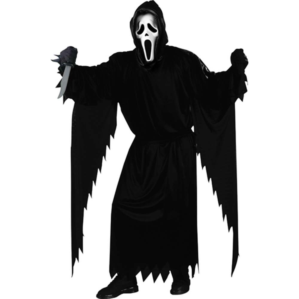 FunWorld Adult Scream Ghost face Costume, Black, One Size