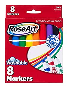 RoseArt Classic Washable Broadline Markers 8-Count Packaging May Vary (DDT57)