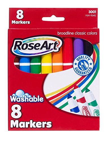 RoseArt Classic Washable Broadline Markers 8-Count Packaging May Vary ()