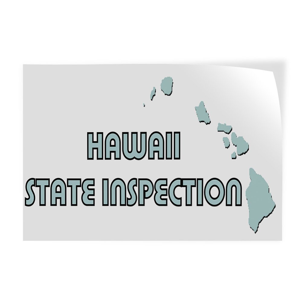 30inx20in Decal Sticker Multiple Sizes Haw All State Inspection Business Hawai State Inspection Outdoor Store Sign White Set of 10