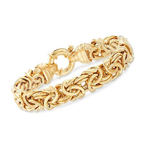Ross-Simons Italian 24kt Gold Over Sterling Silver Byzantine Bracelet ()