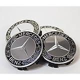 Mercedes-Benz メルセデス・ベンツ純正 センターキャップ ハブキャップ クロム/ブラック ローレルリース