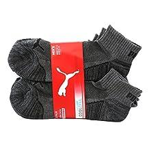 PUMA Men's Quarter Crew Low Cut Socks - 6 Pairs, Shoe Size 6 to 12