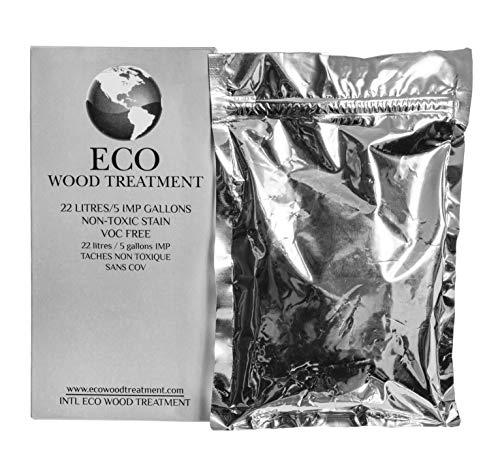 Eco Wood Treatment EWT5 5 US Gallon, Long Lasting, Silvery Patina | Semi-Transparent (1 ()