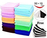 Best Microfiber Cleaning Cloths - 60 Pcs(50+10) - Microfiber Cleaning Cloth Pack Review