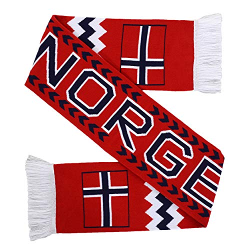 Euroscarves National Soccer High-Definition HD Knit Scarf (Norway)