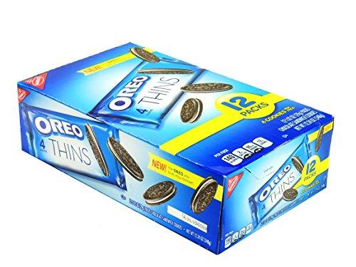 NABISCO OREO THINS 1.02 4 COOKIES PER PACK / 12 PACKS (American Oreos Cookies)