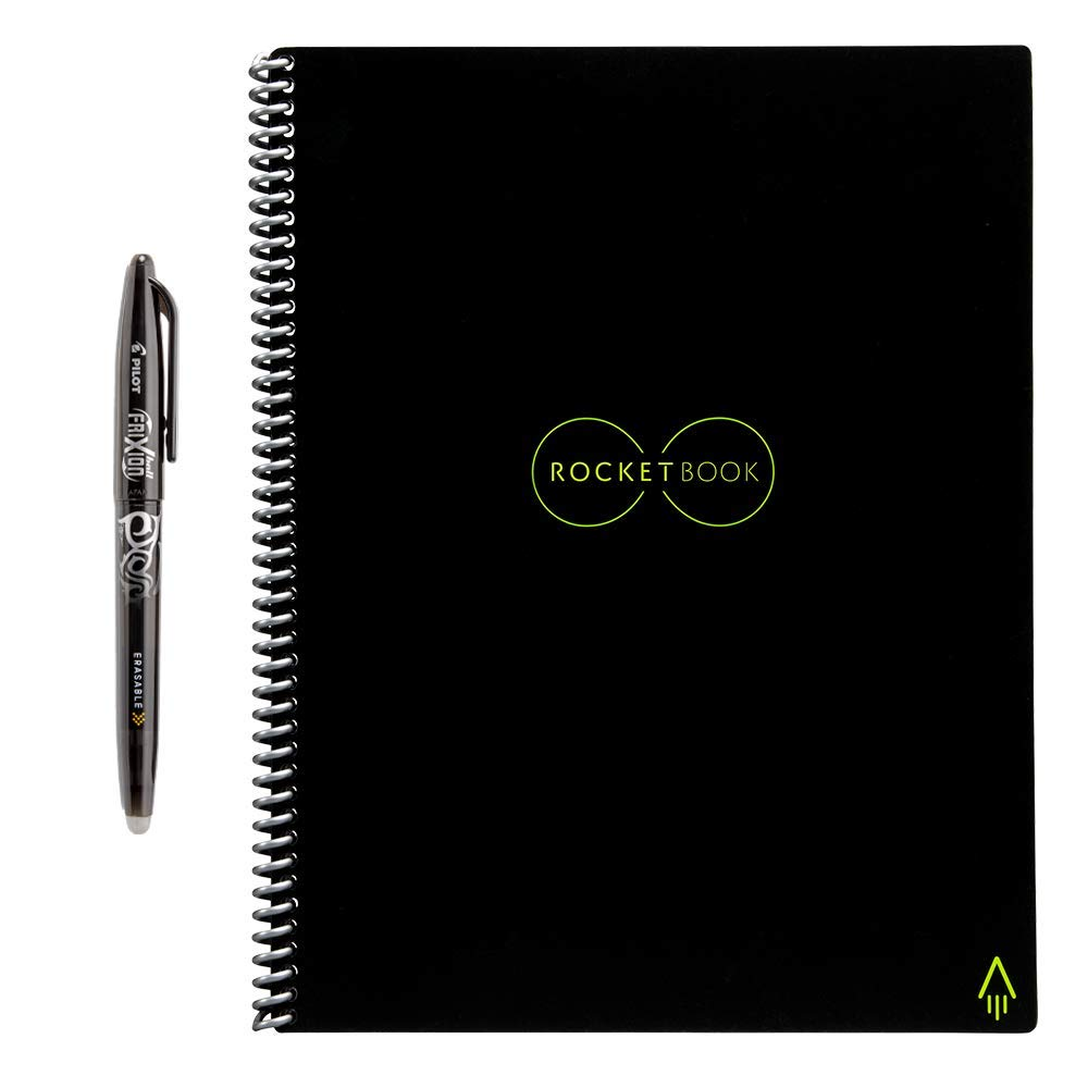 Rocketbook Back to School Bundle - 2 Everlast Letter (1 Lined & 1 Dot Grid) in Infinity Black by Rocketbook (Image #2)
