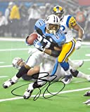 Eddie George, Tennessee Titans, Signed, Autographed, Football 8X10 Photo, a COA with the Proof Photo of Eddie Signing Will Be Included