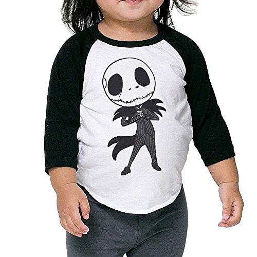 Nightmare Before Christmas Jack Skellington Infant 3/4 Sleeve