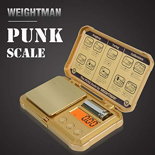 WEIGHTMAN PUNK Scale, 200/0.01g Gram Scale, 6 Units, Small ...