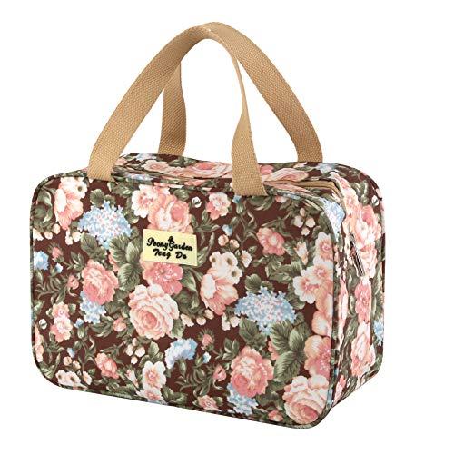 Gym Shower Bag, Yeiotsy Multifunctional Cute Cartoon Toiletry Bag Waterproof Gym Bag Swim Bag Cosmetic Bag Duffle Weekender (Roses) ()