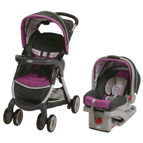 Graco FastAction Fold Stroller Click Connect Travel System, Nyssa Discontinued by Manufacturer