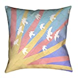 ArtVerse Katelyn Smith Birds and Sunset x 36'' Floor Pillows Double Sided Print with Concealed Zipper & Insert