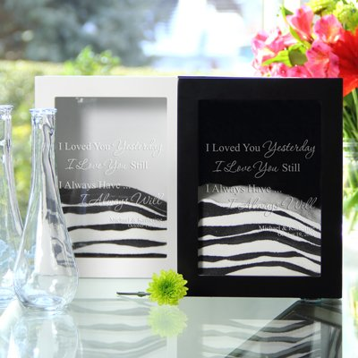 Hot SellerLove Collection Personalized Sand Ceremony Shadow Box Set - 3 Designs Available ('Always Quote', White)